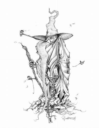 Wizard Tattoo Drawings Forest Dragon Drawing Deviantart