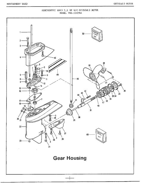 Outboard Engine Wiring Diagram by Johnson Outboard Motor Parts Diagram Impremedia Net