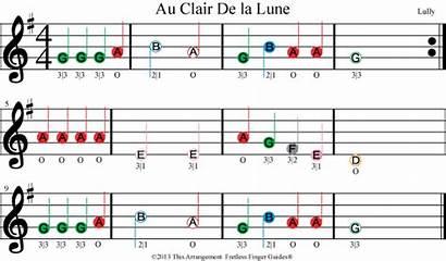 Violin Sheet Beginner Songs Lune Clair Coded