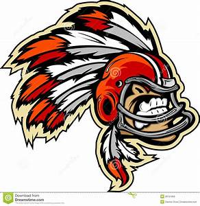 Indian Chief Football Mascot Royalty Free Stock Image ...