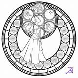 Disney Coloring Mandala Adult Printable Stained Sheets Tiana Chandelier Akili Deviantart sketch template