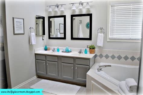 Gray White And Aqua Bathroom gray white and aqua master bathroom decor