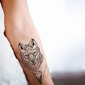 Tatouage Loup Geometrique : imperm able faux tatouage temporaire autocollants ~ Melissatoandfro.com Idées de Décoration