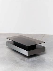 roche bobois two level coffee table With 2 level glass coffee table