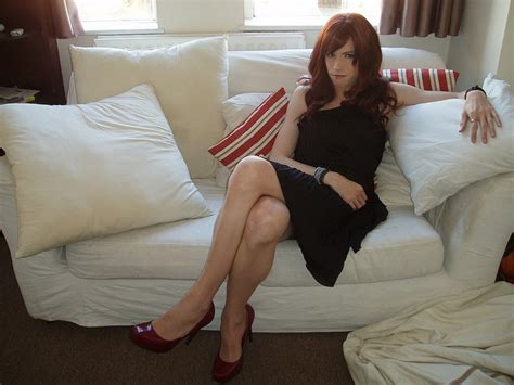 Crossdresser With New Stockings 18/09/2014