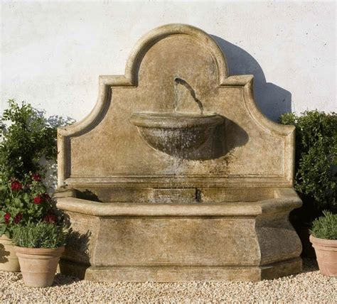 exterior wall fountains wall fountains andalusia wall fountain cast stone wall fountain with light stone wall