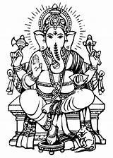 Ganesha Lord Drawing Sketch Drawings Clip Ganesh Ganpati Paintings Coloring Outline Tattoo Krishna Sheets Amazing sketch template