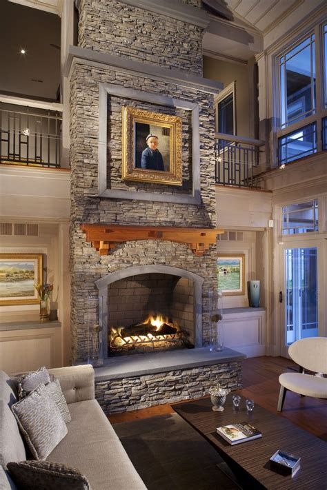 stone fireplaces images  pinterest fire places