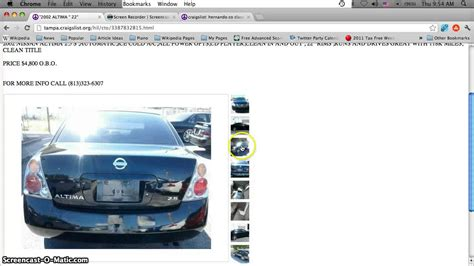 Used Cars For Sale St Fl by Craigslist Hillsborough County Florida Used Cars And