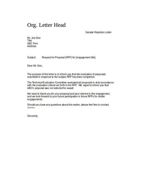 letter  rejection  proposal paystub format