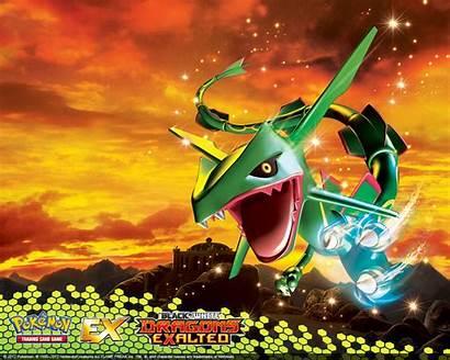 Pokemon Rayquaza Tcg Desktop Dragons Pocketmonsters Fundos