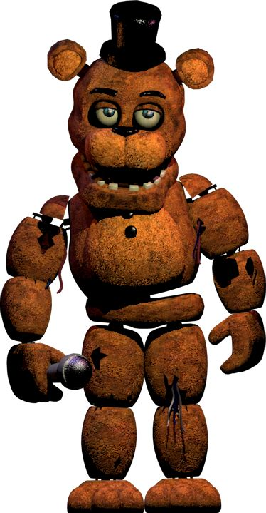 Withered Freddy New Textures Full Body By Yinyanggio1987