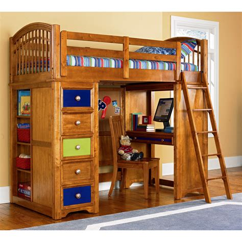 loft bed with desk and storage wooden loft bunk bed for kids with desk and storage