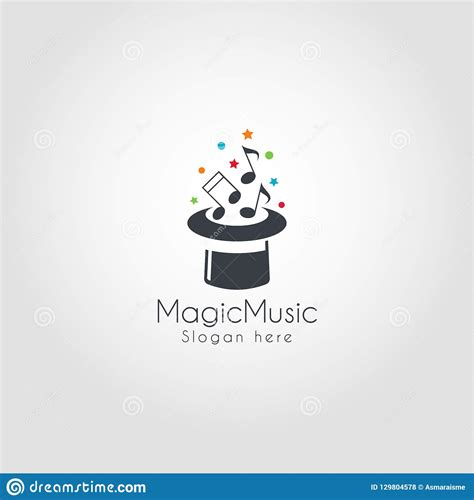 Magic music visuals and its alternatives are some of these applications. Magic Music Logo Template stock vector. Illustration of ...