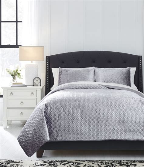Grey King Coverlet by Signature Design By Maryam Gray King Coverlet Set