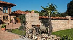 Mediterrane Bäume Winterhart : mediterrane mauern und sichtschutz mediterrane gartenmauern nowaday garden ~ Frokenaadalensverden.com Haus und Dekorationen