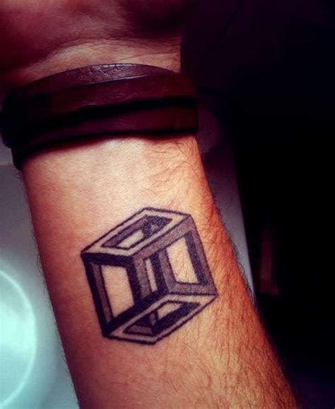 escher cube tattoos