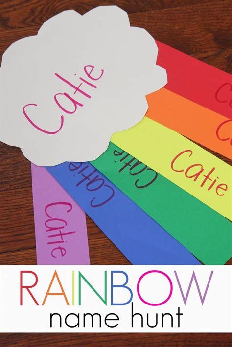 rainbow name hunt name activities hunt s and preschool 538 | c80d88490b4cfa63884e819f87d1514b