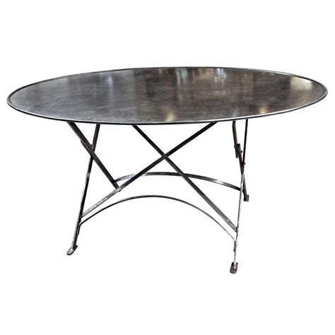 folding metal tables outdoor indoor at 1stdibs