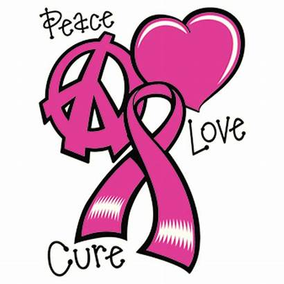 Peace Cancer Breast Awareness Cure Tshirt Clip
