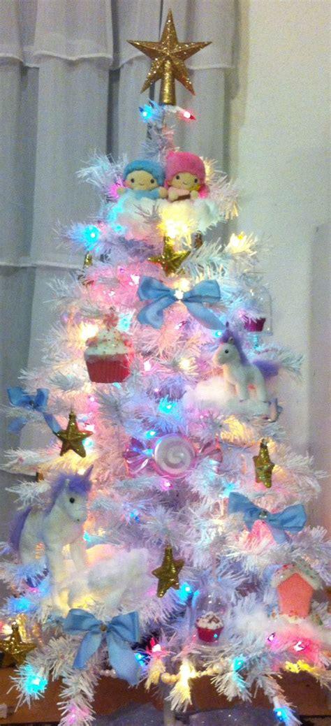 twin stars christmas tree pastel christmas tree