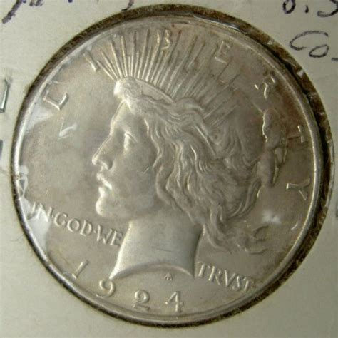 liberty dollar coin 1924 peace liberty silver dollar coin for sale antiques com classifieds