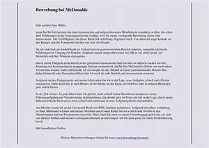 Mcdonalds bewerbung muster und tipps for Mcdonalds bewerbung muster