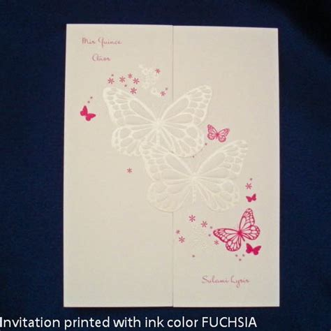quinceanera invitation butterfly wishes sweet