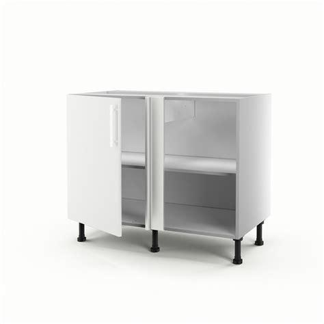 meuble bas d angle cuisine meuble de cuisine bas d 39 angle blanc 1 porte délice h 70 x l 100 x p 56 cm leroy merlin