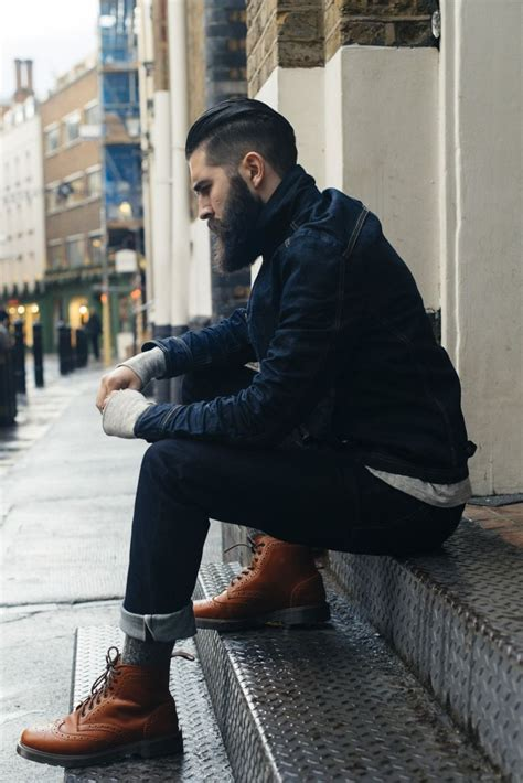 Best Tan Brogues With Jeans Images Pinterest Mens
