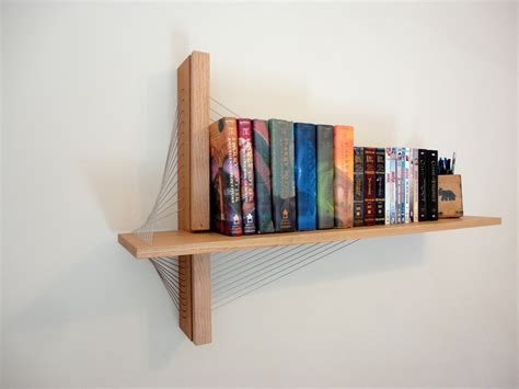 wall hanging book rack suspension shelf robby cuthbert design