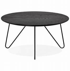 Table Basse Noire Design : table basse de salon pluto noire style industriel table design ~ Teatrodelosmanantiales.com Idées de Décoration