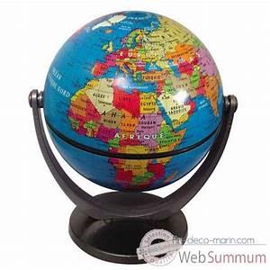 Mini Globe Terrestre : mini globe g ographique stellanova non lumineux mod le classique sur art d co marin ~ Teatrodelosmanantiales.com Idées de Décoration