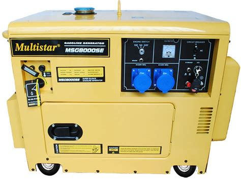 Multistar Msg8000se Gas Generator For 220/240 Volts 50 Hz