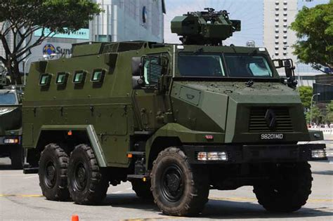 Singapore Army Unveils New Vehicles