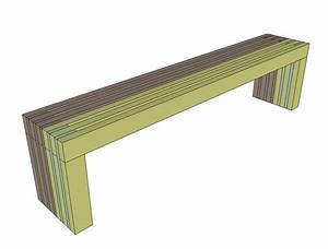 Ana White Build a Modern Slat Top Outdoor Wood Bench