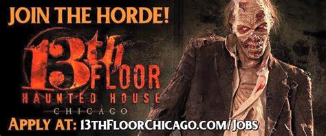 The Thirteenth Floor Haunted House Illinois by Auditions For Zombies Scare Actors Wanted In Chicago For