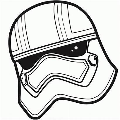 Coloring Stormtrooper Helmet Mask Drawing Popular Clipartmag
