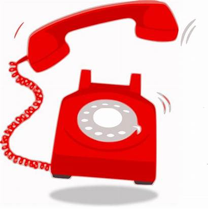 Telephone Ringing Clip Phone Clipart Call Vector