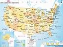 USA Map with Cities | Map of US with Major Cities
