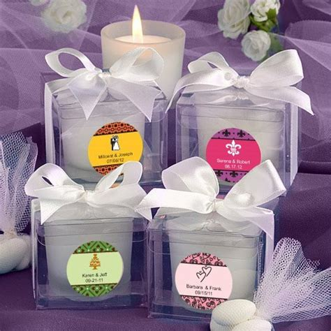 Personalized Wedding Theme Candle Favors