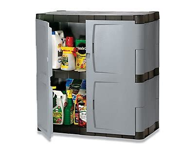 Rubbermaid Cupboard by Rubbermaid 7085 Large Horizontal Storage Shed Mica