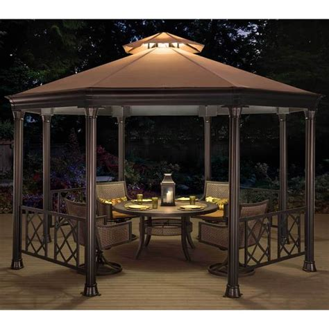 Shop Sunjoy Beige Steelfabric Octagonal Soft Top Gazebo. Daybed Pillows. Cheap Patio Ideas. Salters Fireplace. Cabinet Styles. Red Front Door. Shelves Above Washer And Dryer. Bar Bench. Blue And Beige Bedrooms