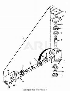 Mtd 190-993-190 50 U0026quot  Mower Deck  1993  Parts Diagram For Right Angle Drive Box