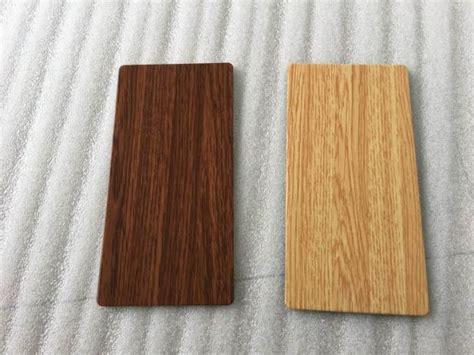 waterproof wood grain aluminium composite panel lightweight building materials