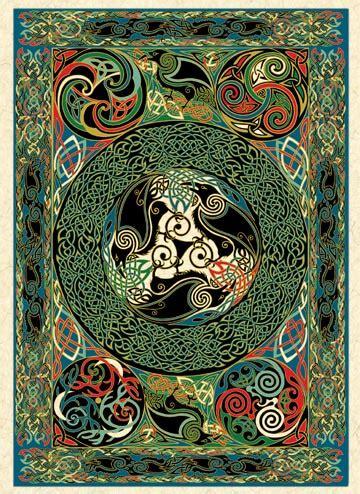 morrigan ravens panel greeting cards welsh artist jen