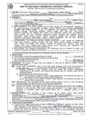 texas real estate forms fillable texas property purchase agreement fill online printable