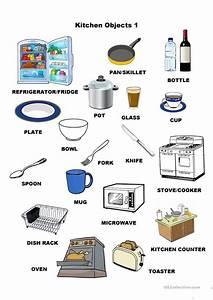 Kitchen Utensils Small Equipment Identification Worksheet