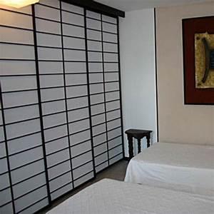 Cloisons Mobiles : cloisons mobiles en panneaux de toile avec cadre et lattes ~ Melissatoandfro.com Idées de Décoration