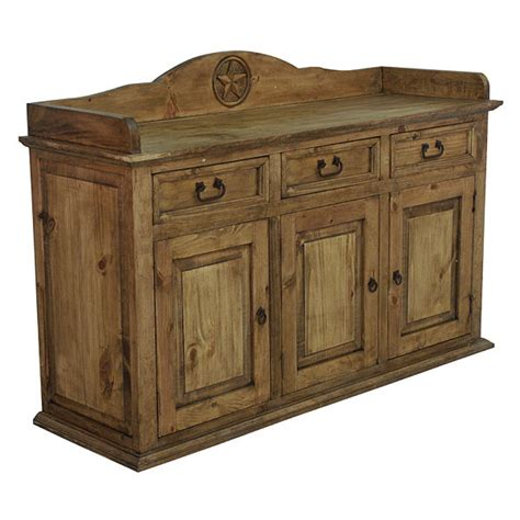 Pine Sideboard by Pine Buffet With Rustic Western Real Wood Cabunet